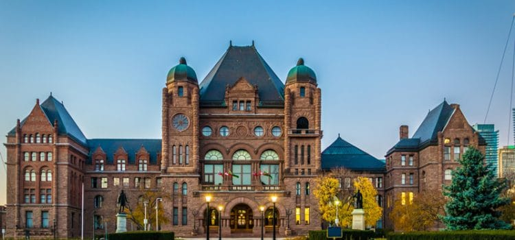 Ontario Legislature Returns From Summer Break