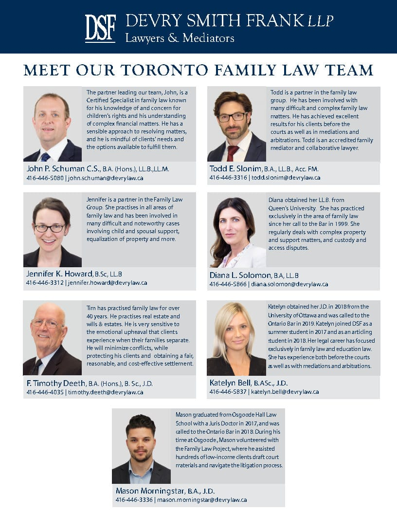 Family Law Group Contact Sheet